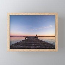 Sunset On The Dock Framed Mini Art Print