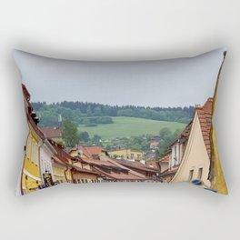 Cesky Krumlov Scenery Rectangular Pillow