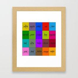 color bernstein Framed Art Print