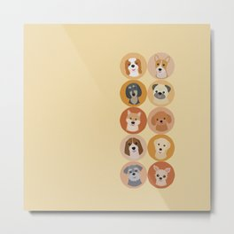 Cute Dogs 1 Metal Print