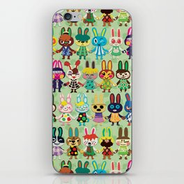 Rabbit Crossing iPhone Skin