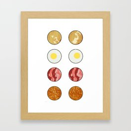 DECONSTRUCTED BREAKFAST  - BACON AND EGGS Framed Art Print
