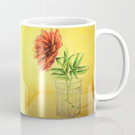 flower in a glass . illustration  ( https://society6.com/totalflora/collection ) Coffee Mug