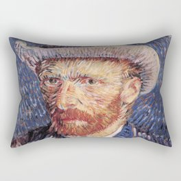 Self Portrait with Felt Hat Rectangular Pillow