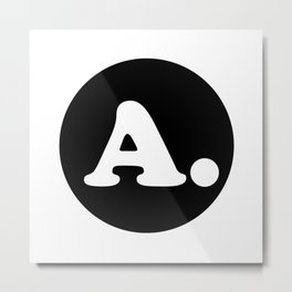 The Letter A. Metal Print
