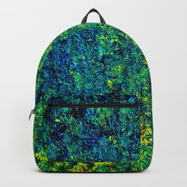Abstract Flowers Yellow And Green Backpack