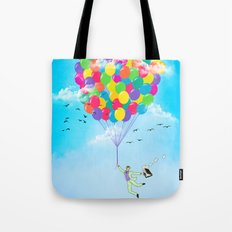 Neon Flight Tote Bag