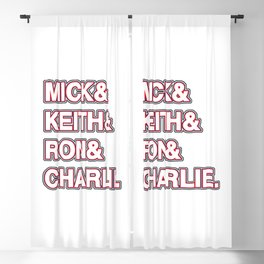Rock and roll legends | for rock and roll fans | British Rock Blackout Curtain