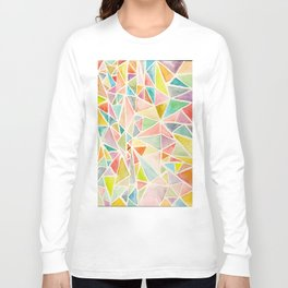 Watercolor Triangles Long Sleeve T-shirt