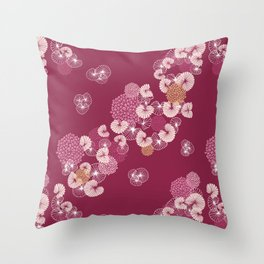 Floral Seamless Pattern Throw Pillow