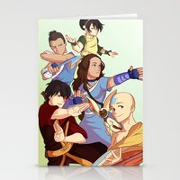 airbender Stationery Cards featuring avatar: the last airbender by Anyeka
