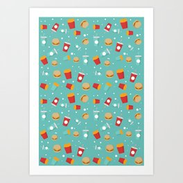 Burgers pattern Art Print