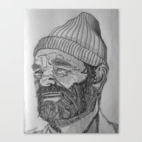 steve zissou Canvas Prints featuring Steve Zissou by Antony Stephenson