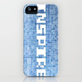Inspire watercolor mosaic iPhone Case