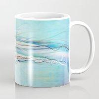 jelly fish Mugs featuring Jelly Fish  by Felicia Atanasiu