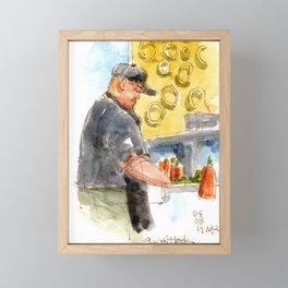 Sushi Chef Framed Mini Art Print