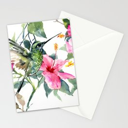 HIbiscus and Hummingbird Stationery Cards