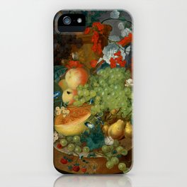 "Jan van Os  ""Fruit still life with a mouse on a ledge"" iPhone Case"