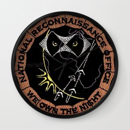 NROL-11: We Own the Night Patch Wall Clock