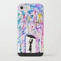 rain iPhone & iPod Cases featuring Deluge by Marc Allante