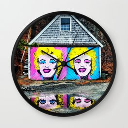 Provincetown Massachusetts Photograph Marilyn faces Wall Clock