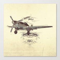 1943 caza Canvas Print