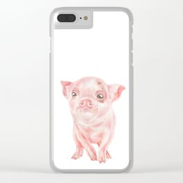 Baby Pig | Watercolour | Baby Animal Art | Animals Clear iPhone Case