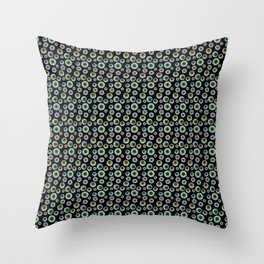 I Only Have Eyes for You (on Designer Black Background)  Throw Pillow