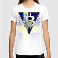sweden T-shirts featuring bitcoin sweden by seb mcnulty