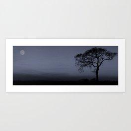 Winter's evening Art Print