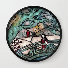 Overlooking Coy Wall Clock