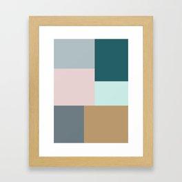 COLOUR BLOCKS Framed Art Print