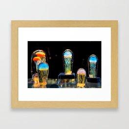 Suspended Jellyfish Framed Art Print