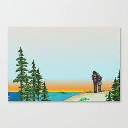 Explore Michigan Lovers Canvas Print