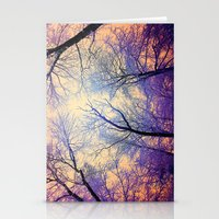 bebop Stationery Cards featuring Snow Angel's View - Nature's Painting (color 2) by soaring anchor designs