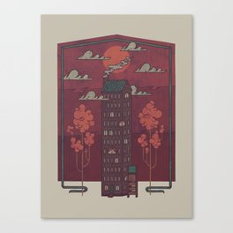 The Towering Bed and Breakfast of Unparalleled Hospitality Canvas Print