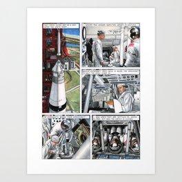 Apollo 11 comic - page 4 Art Print
