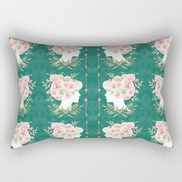 Abstract Roses Fairy Rectangular Pillow