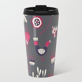 Scandi Floral Dark Travel Mug