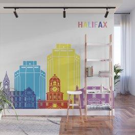 Halifax skyline pop Wall Mural