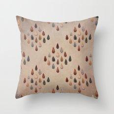 Arrowheads Diamond - Vintage Tones Throw Pillow
