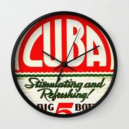 Vintage Cuba Soft Drink Poster Wall Clock