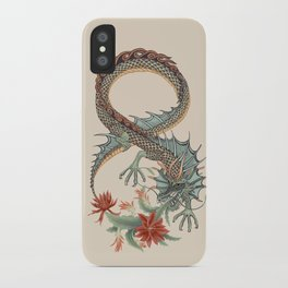 Botanical Flower Dragon 8 iPhone Case