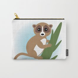 lemur on green branch on white background Carry-All Pouch
