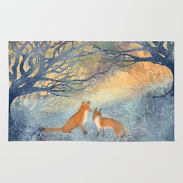 The Two Foxes Rug