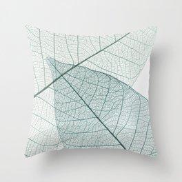 Skeleton Leaves Throw Pillow