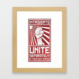Introverts Unite Framed Art Print