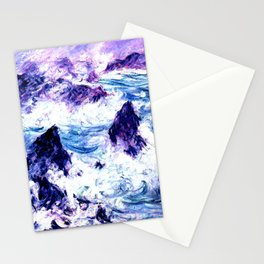 Monet : Storm At Belle Ile Vibrant Stationery Cards