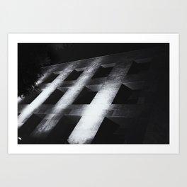Modern black white architectural building night photography Art Print