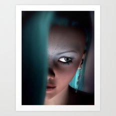 Fairy girl Face Art Print